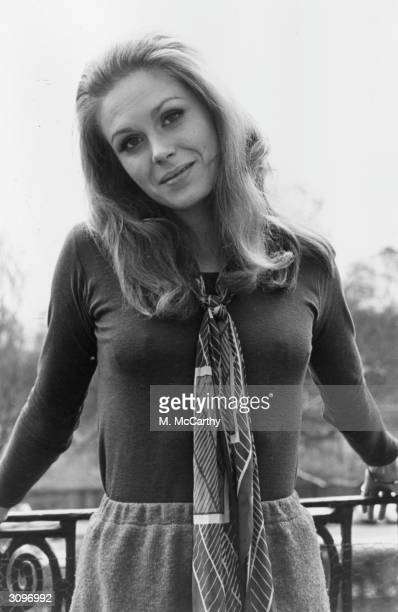 Joanna Lumley the 'Bond' girl and star of the TV series 'The Avengers'