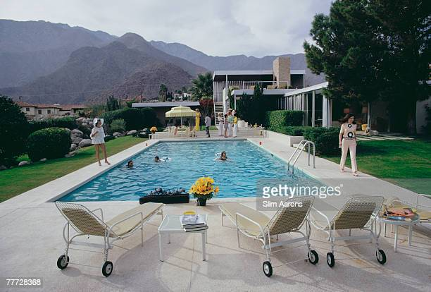 The Kaufmann Desert House in Palm Springs California designed by Richard Neutra in 1946 for businessman Edgar J Kaufmann and now owned by Nelda Linsk