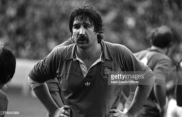 January 1978 - 5 Nations Rugby - France v England French lock forward Michel Palmie.