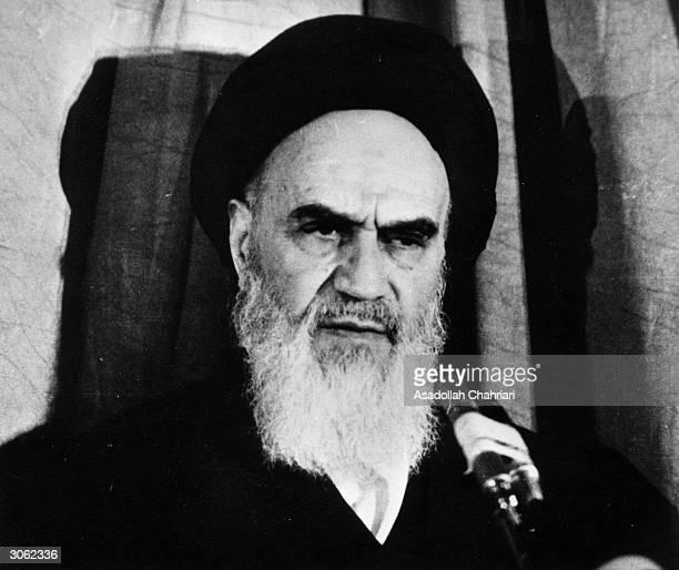Iranian leader Ayatollah Imam Rouhollah Khomeini