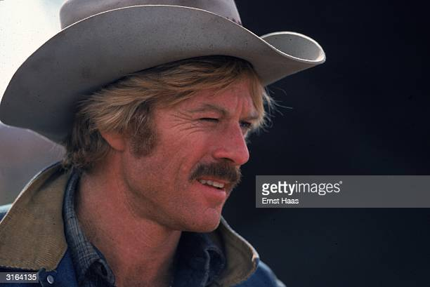 Rugged actor Robert Redford in Utah to film the western romance 'The Electric Horseman', directed by Sydney Pollack.