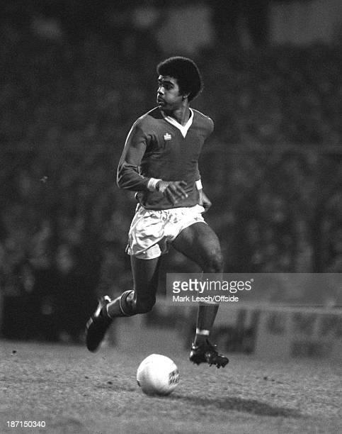 30 January 1980 FA Cup Football Swindon Town v Tottenham Hotspur Chris Kamara of Swindon runs with the ball