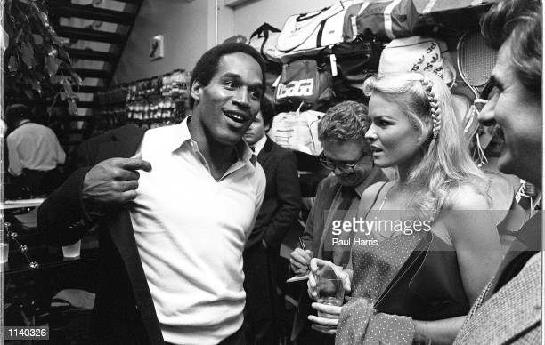 January 1980.Los Angeles. O.J. Simpson was guest of honour at the opening of a sport shop in Los Angeles and he bought along Nicole Brown Simpson