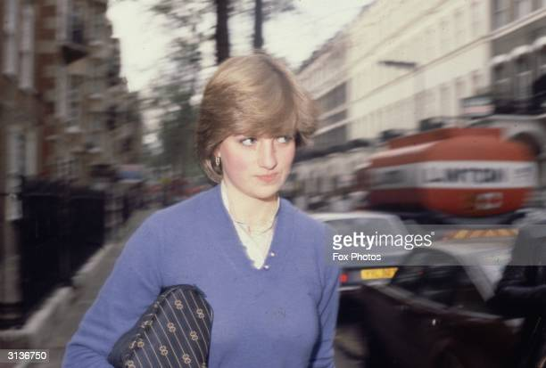 Lady Diana Spencer before her marriage to Prince Charles.