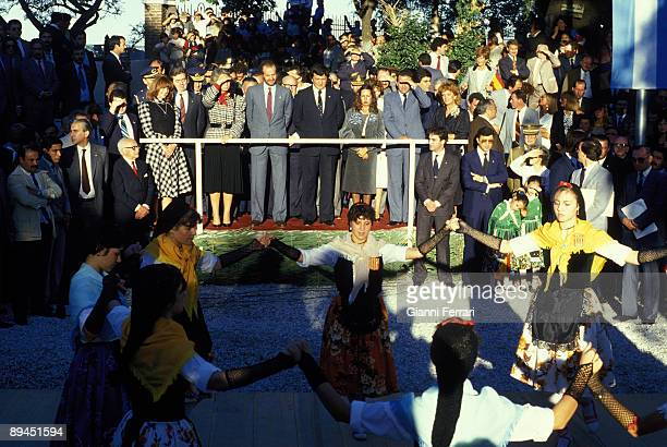 January 1985 Rosario City Argentina Official visit of the King of Spain Juan Carlos and Sofia to Argentina