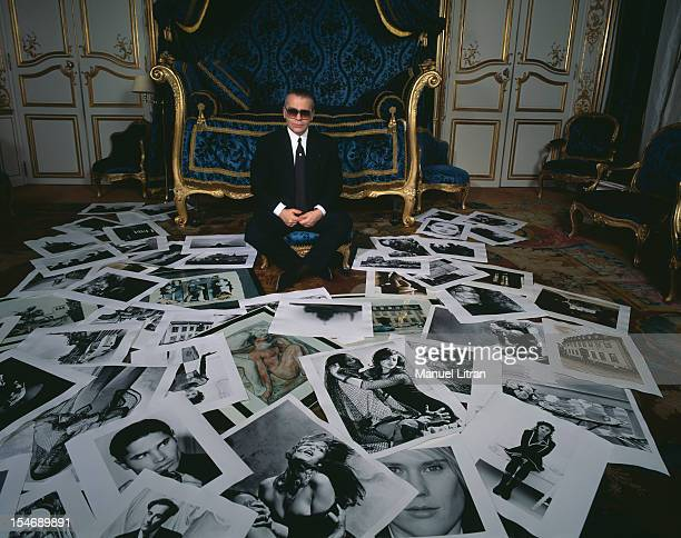 January 1991 the fashion designer Karl Lagerfeld photographer home on the occasion of an exhibition of his photographs at the Gallery Boulakia He...