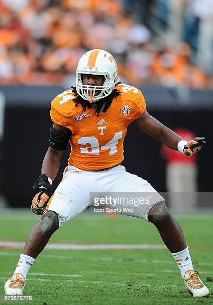 Tennessee Volunteers linebacker Jalen Reeves-Maybin during the TaxSlayer Bowl game between the Tennessee Volunteers and the Iowa Hawkeyes at Everbank...