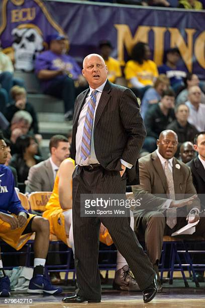 East Carolina head coach Jeff Lebo in a game between the East Carolina Pirates and the Central Florida Knights at Williams Arena Minges Coliseum in...
