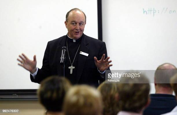January 20 2004 Adelaide SA Catholic Archbishop Philip Wilson at the Catholic Education Office Adelaide talking about the future of Catholic education