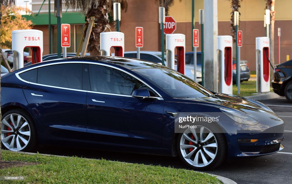 Tesla Raises Prices As Its Charging Stations : News Photo