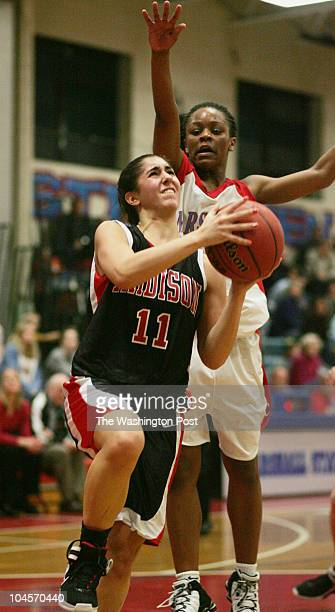 January 2007 CREDIT TRACY A WOODWARD / TWP Marshall High School 7731 Leesburg Pike Falls Church VA Girls' basketball Madison at Marshall In third...