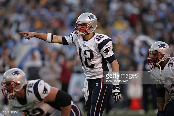 Tom Brady of the New England Patriots in a 2421 win over the San Diego Chargers in the AFC Divisional Playoff game at Qualcomm Stadium in San DiegoCa