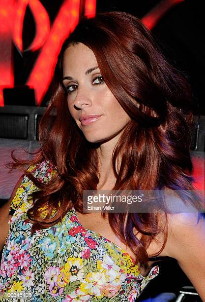 ACCESS*** January 2010 Playboy Playmate of the Month Jaime Edmondson appears at the Tabu Ultra Lounge at the MGM Grand Hotel/Casino May 22 2010 in...