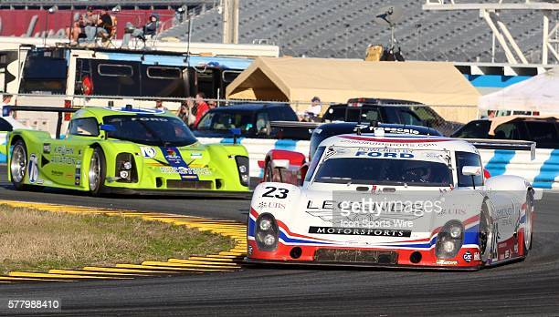 The Ford Riley of Mark Patterson Zak Brown Mark Blundell amd Martin Brundle Rolex 24 at Daytona Daytona International Speedway Daytona Beach FL