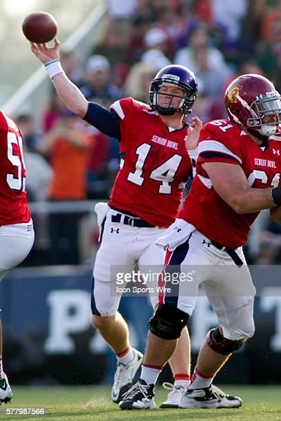 29 January 2011 Under Armour Senior Bowl TCU quarterback Andy Dalton passes the ball during the second half The South won the game 2410