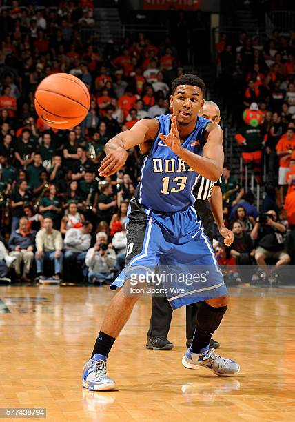 Duke University guard Matt Jones plays against the University of Miami in Duke's 67-46 victory at BankUnited Center, Coral Gables, Florida.