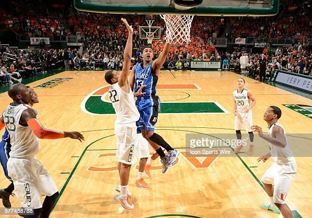 Duke University guard Matt Jones shoots against the University of Miami in Duke's 67-46 victory at BankUnited Center, Coral Gables, Florida.
