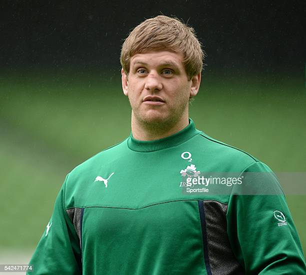 24 January 2014 Ireland's Chris Henry during squad training ahead of their opening RBS Six Nations Rugby Championship game against Scotland on Sunday...