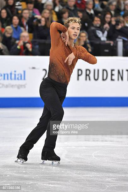 Adam Rippon puts on a strong routine during the US Figure Skating Championships at TD Garden in Boston MA