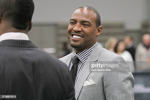 ESPN analyst Darren Woodson during the College Football Playoff National Championship media day held at the Dallas Convention Center in Dallas Texas