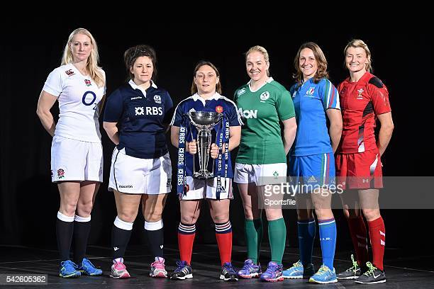 28 January 2015 In attendance at the launch of the RBS Six Nations Championship Launch 2015 are team captains from left to right England's Tamara...