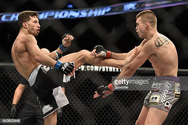 18 January 2015 Johnny Case right in action against Frankie Perez during their lightweight bout UFC Fight Night Johnny Case v Frankie Perez TD Garden...