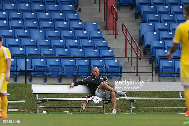 New England Revolution assistant coach Tom Soehn. The 2015 MLS Player Combine was held on the cricket oval at Central Broward Regional Park in...