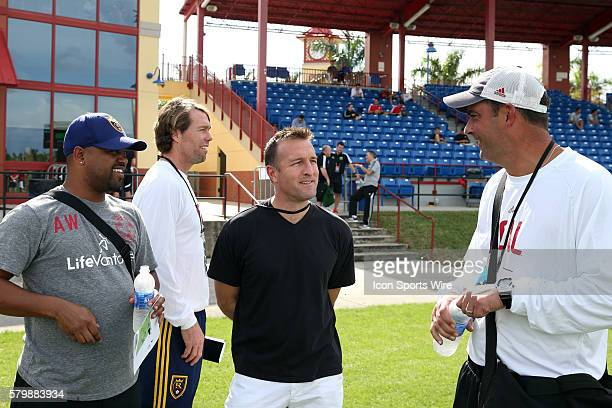 Real Salt Lake head coach Jeff Cassar with assistant coaches Andy Williams and Ted Eck and New York City FC head coach Jason Kreis The 2015 MLS...