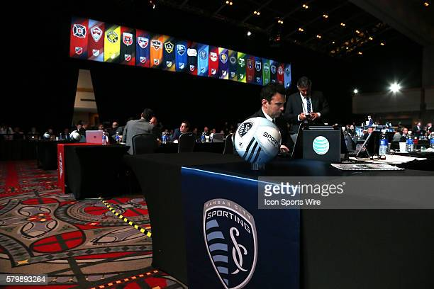 Sporting Kansas City assistant coach Kerry Zavagnin mans the team's draft table The 2015 MLS SuperDraft was held at the Pennsylvania Convention...