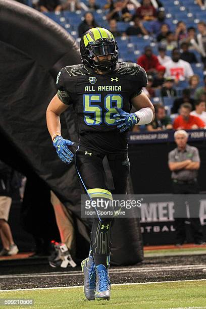 Team Armour defensive end Andrew Butcher during the 2015 Under Armour AllAmerica Game at Tropicana Field in St Petersburg Florida