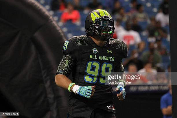 Team Armour defensive end Canton Kaumatule during the 2015 Under Armour AllAmerica Game at Tropicana Field in St Petersburg Florida