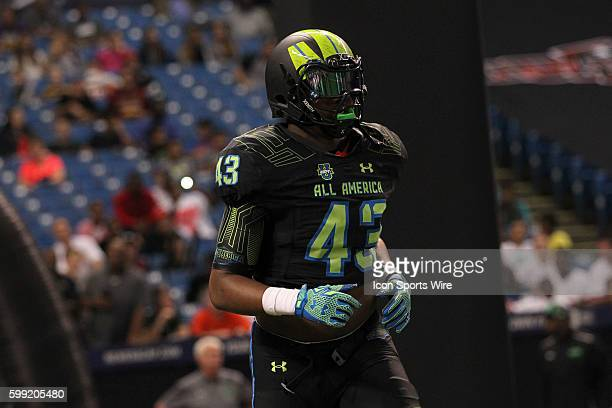 Team Armour defensive end Jalen Dalton during the 2015 Under Armour AllAmerica Game at Tropicana Field in St Petersburg Florida