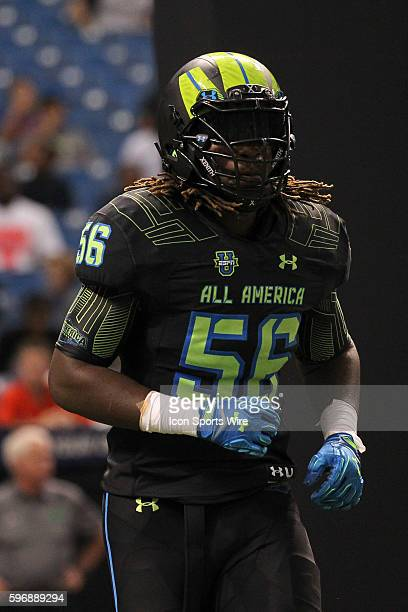 Team Armour defensive end Marques Ford during the 2015 Under Armour AllAmerica Game at Tropicana Field in St Petersburg Florida