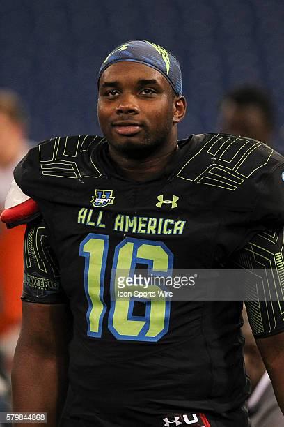 Team Armour defensive lineman Jashon Cornell during the 2015 Under Armour AllAmerica Game at Tropicana Field in St Petersburg Florida