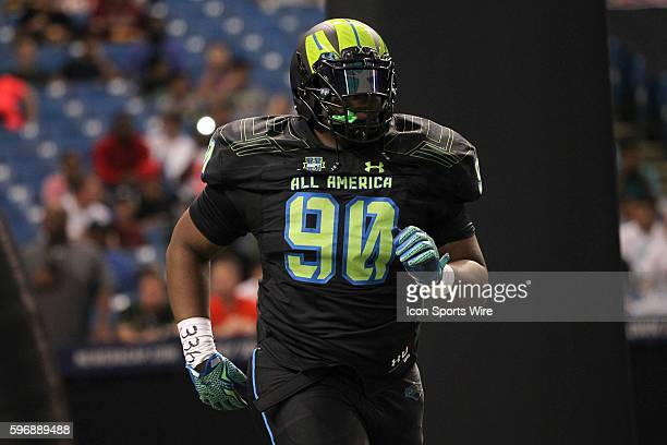 Team Armour defensive tackle Shy Tuttle during the 2015 Under Armour AllAmerica Game at Tropicana Field in St Petersburg Florida