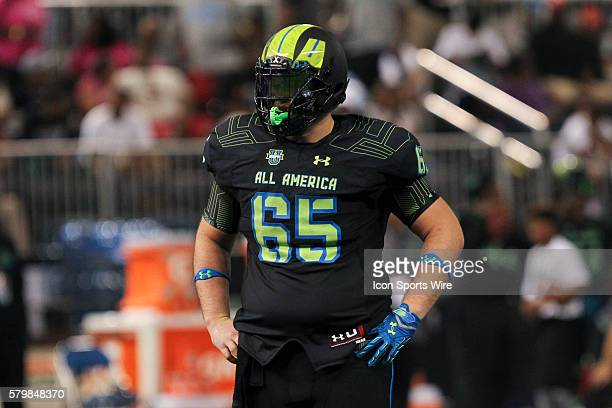 Team Armour offensive lineman Brian Chaffin during the 2015 Under Armour AllAmerica Game at Tropicana Field in St Petersburg Florida