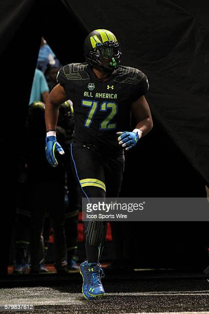 Team Armour offensive lineman Sterling Jenkins during the 2015 Under Armour AllAmerica Game at Tropicana Field in St Petersburg Florida