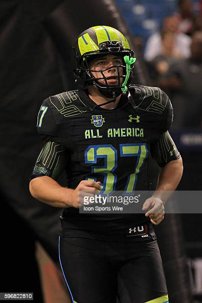 Team Armour punter Austin Seibert during the 2015 Under Armour AllAmerica Game at Tropicana Field in St Petersburg Florida