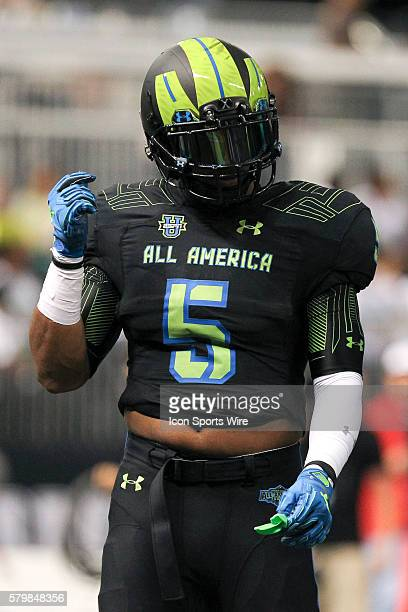 Team Armour running back Nick Brossette during the 2015 Under Armour AllAmerica Game at Tropicana Field in St Petersburg Florida