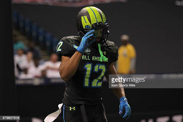 Team Armour wide receiver Christian Kirk during the 2015 Under Armour AllAmerica Game at Tropicana Field in St Petersburg Florida