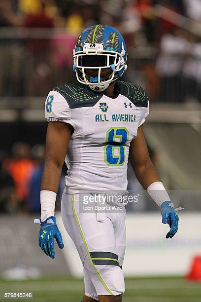Team Highlight defensive back Iman Marshall during the 2015 Under Armour AllAmerica Game at Tropicana Field in St Petersburg Florida