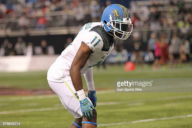 Team Highlight defensive back Kendall Sheffield during the 2015 Under Armour AllAmerica Game at Tropicana Field in St Petersburg Florida