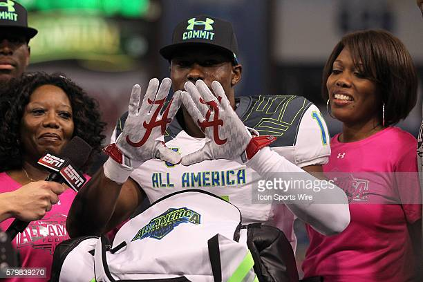 Team Highlight defensive back Kendall Sheffield announces that he will be attending Alabama during the 2015 Under Armour AllAmerica Game at Tropicana...