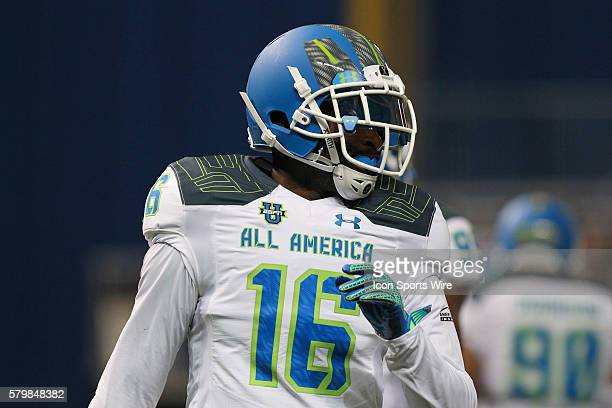 Team Highlight defensive back Marcus Lewis during the 2015 Under Armour AllAmerica Game at Tropicana Field in St Petersburg Florida