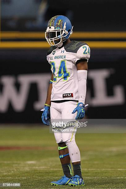 Team Highlight defensive back Shaun Crawford during the 2015 Under Armour AllAmerica Game at Tropicana Field in St Petersburg Florida