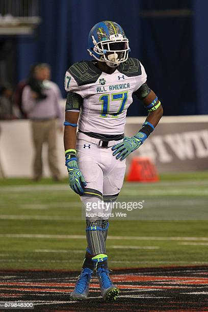 Team Highlight defensive end Arden Key during the 2015 Under Armour AllAmerica Game at Tropicana Field in St Petersburg Florida