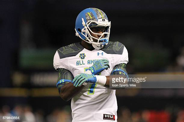 Team Highlight linebacker Anthony Wheeler during the 2015 Under Armour AllAmerica Game at Tropicana Field in St Petersburg Florida