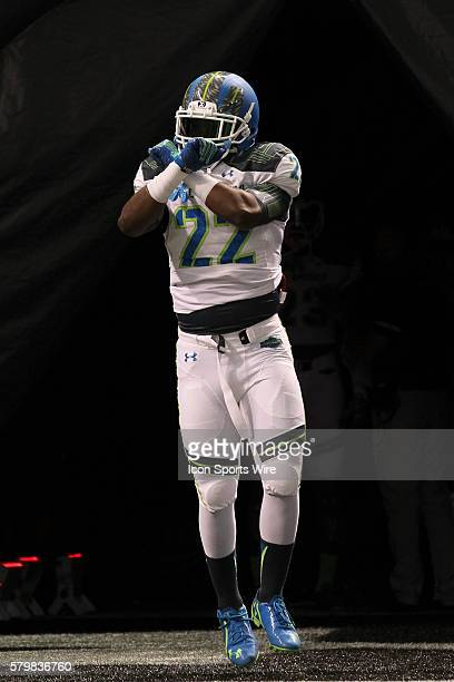 Team Highlight linebacker Jahvoni Simmons during the 2015 Under Armour AllAmerica Game at Tropicana Field in St Petersburg Florida