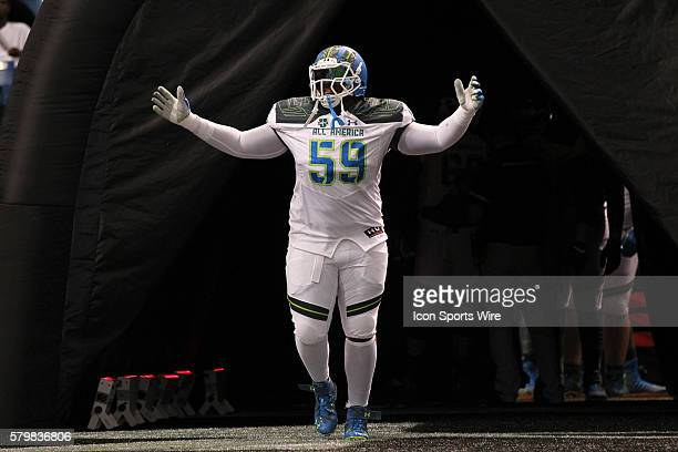 Team Highlight offensive lineman Joshua Wariboko during the 2015 Under Armour AllAmerica Game at Tropicana Field in St Petersburg Florida