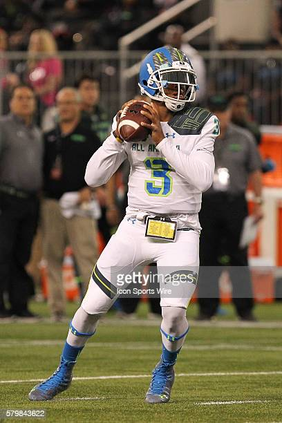 Team Highlight quarterback Deondre Francois during the 2015 Under Armour AllAmerica Game at Tropicana Field in St Petersburg Florida